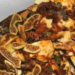 Fikon och valnötsgarnerad kycklingfilé